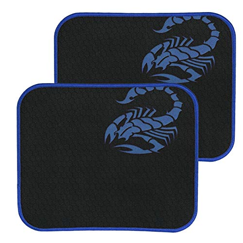 RiaTech 2 Pack Mouse Pad with Scorpio Print, Antifray Stitched Edges, Non-Slip Rubber Base Mousepad for Laptop, Computer…