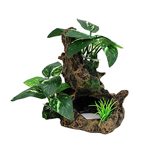 - OMEM Reptile Decorations for Terrarium Landscaping Habitat Decor Aquarium Fish Tank Ornament Sunken Wood