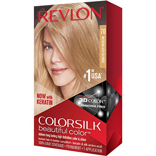 Revlon ColorSilk Hair Color 70 Medium Ash Blonde 1 Each (Pack of 4)