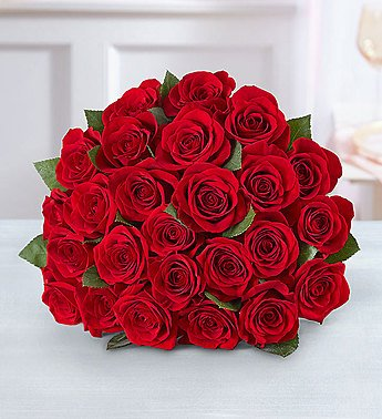 Two Dozen Red Roses Bouquet Only by 1-800-Flowers.com