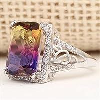 Aisamaisara Women 925 Silver Filled Purple Topaz Ametrine Wedding Rings Engagement New #6-10 (10)