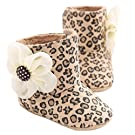 DZT1968® Baby Girl Soft Sole Leopard Print Flower Keep Warm Socks Shoes Snow Boots (11 (0~4 Months))