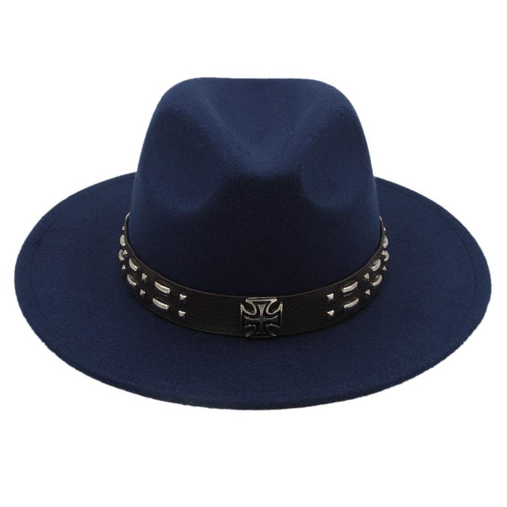 Unisex Vintage Felt Fedora Hat Wide Brim Panama Hat Classic Jazz Church Hat