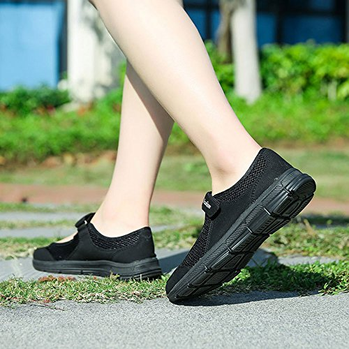 Slip Anti Sandalen OYSOHE Fitness Sommer Klettverschluss Laufschuhe Sportschuhe Schwarz Schuhe Mode Mesh Frauen xxUO4q8