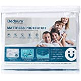 "Bedsure 100% Waterproof Mattress Protector King Size Terry Cotton Deep Pocket Hypoallergenic Mattress Cover-White 78"" x 80"""