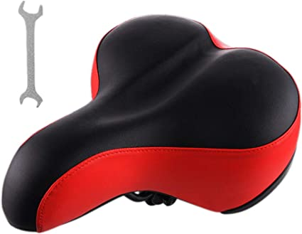 Comfort Wide Cruiser Bike Saddle Seat Soft Cushion Pad Breathable Bicycle Seat