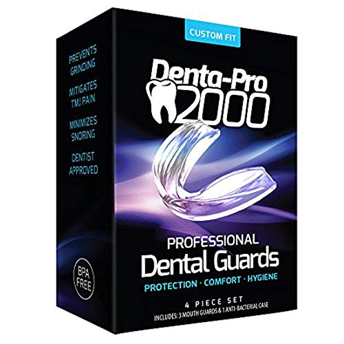 DentaPro2000 Teeth Grinding Mouth Guard – Eliminates Grinding, Clenching, TMJ & Bruxism – Set Includes 3 Dental Guards…