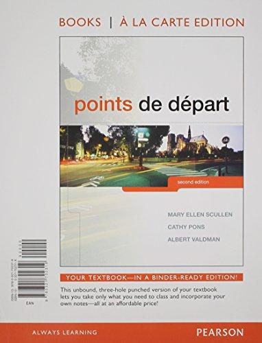 Points de départ, Books a la Carte Edition (2nd Edition)