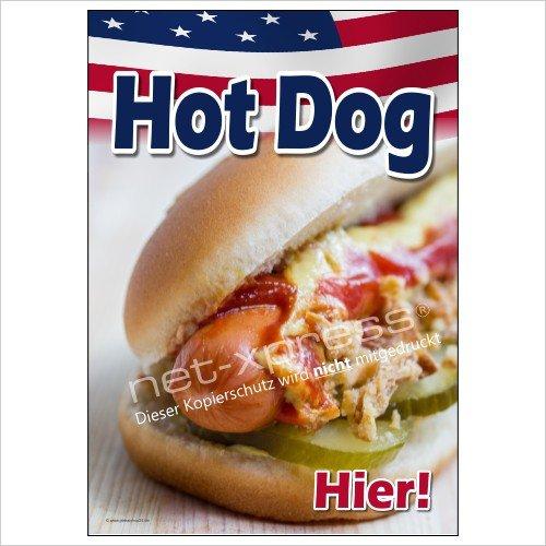 Hot Dog Placa Bockständer Etc. A1 Cartel de Publicidad Placa ...