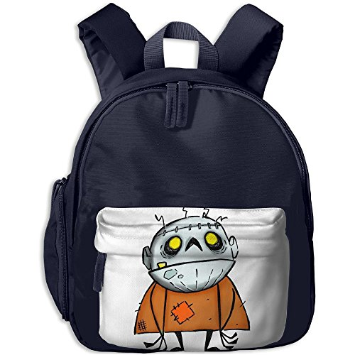 Halloween Zombie Monster School Backpacks For Children Girls Boys Oxford Printed With Front Pocket (Plants V Zombies Halloween Costumes)
