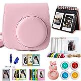 Woodmin Classical Pink 10-in-1 Accessories Bundle for Fujifilm Instax Mini 8 8+ Mini 9 Camera (Mini 8 case/ Calendar Albums/ Frames/ Film Stickers/ Filters/Mark pen/Selfi-Lens)