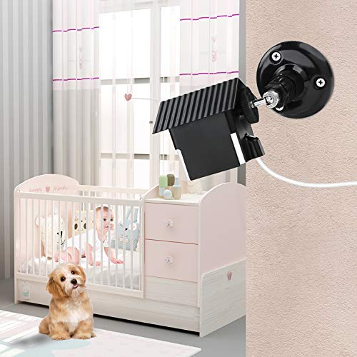 Wyze Cam V2 Wall Mount Pan,Protective Weather Proof Housing Security Mount,for Wyze Cam 1081p HD Indoor Outdoor Cam and IsmartAlarm Spot Cam Black