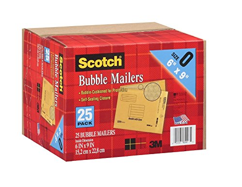 Scotch 3M Bubble Mailers Size 0 (6