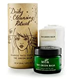 Luxurious Bamboo Face cloth & Moa The Green Balm Daily Cleansing Ritual