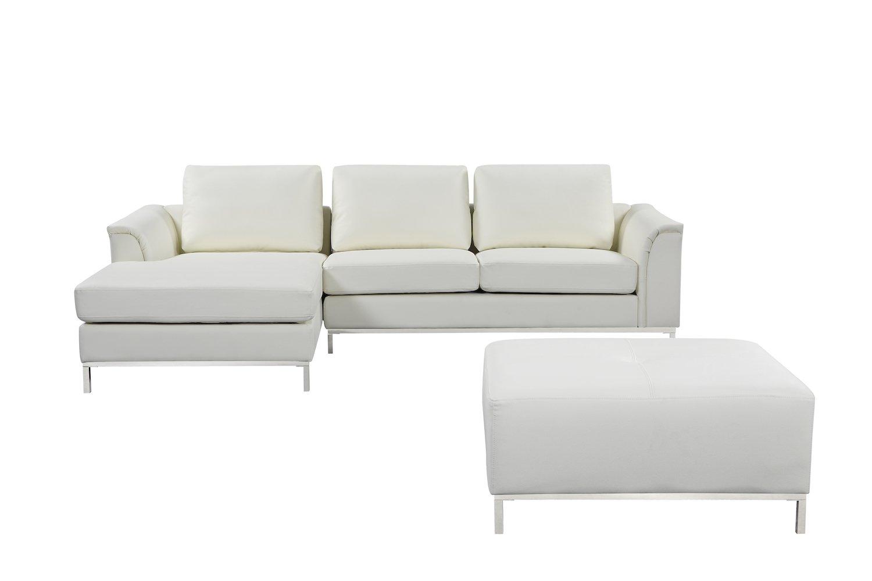 Amazon.com: Velago OLLON White Modern Left-Facing Sectional ...