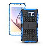 Galaxy Note 5 Case, HLCT Rugged Shock Proof Dual-Layer Case with Built-In Kickstand for Samsung Galaxy Note 5 (2015) (Blue)
