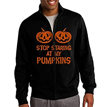 Stop Staring At My Pumpkins Personalized Mens Straight Collar Jacket Sweatshirt