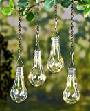 Set of 2 LED Hanging Solar Lights