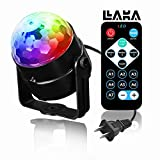 LAKA Party Lights Disco DJ Lights with Remote Control, RBG Disco Ball, Strobe Lamp 7 Modes Stage Par Light for Dance Parties Birthday DJ Bar Karaoke Xmas Wedding Show Club Pub