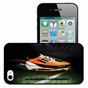 Personalized iPhone 4 4S Cell phone Case/Cover Skin Adidas Cristiano Ronaldo Football Black