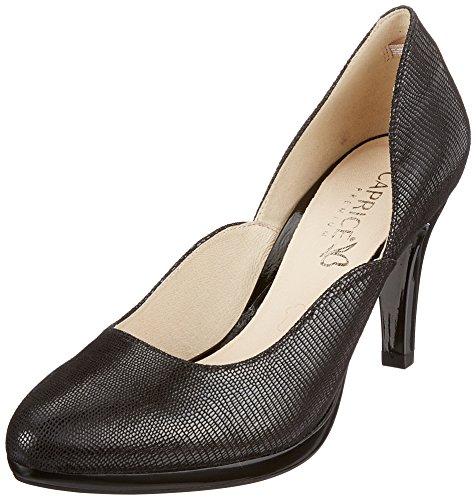 Reptile Negro De 10 Tacón Mujer Para Caprice Zapatos black 22407 YZqw1wB8