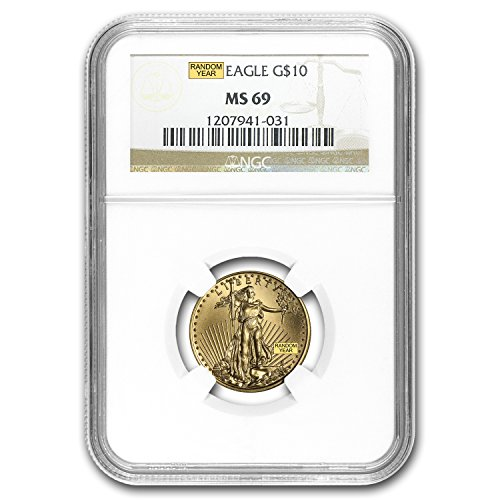 1986 – Present 1/4 oz Gold American Eagle MS-69 NGC (Random Year) Gold MS-69 NGC