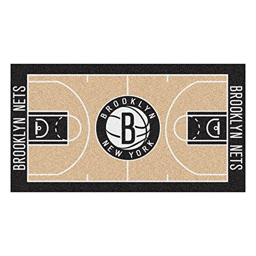 (FANMATS NBA Brooklyn Nets Nylon Face NBA Court Runner-Large)