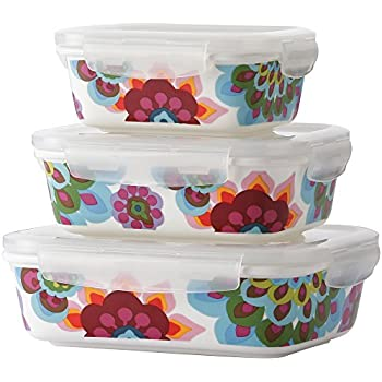 Superb French Bull   Food Storage Container With Air Tight Lid   Porcelain Storage  Container Set