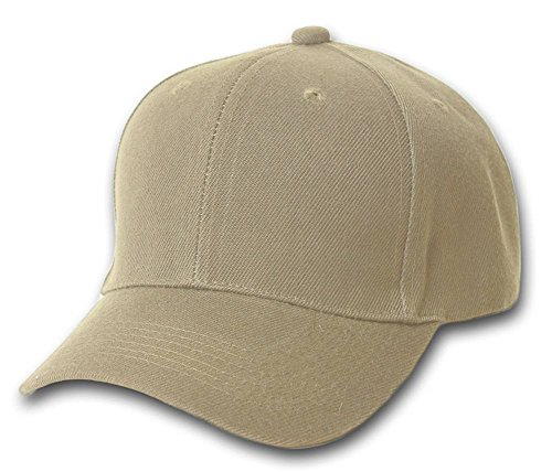 TOP HEADWEAR Adjustable Baseball Structured Cap Hat, Khaki -