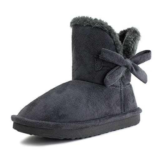 gray suede dress boots - 9