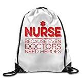 For Nurse Heroes Only Drawstring Backpack Beam Port Bag Drawstring Beam Port Backpack For Sale
