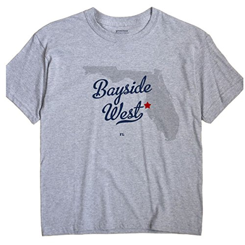 Bayside West Florida FL, Neighborhood of Tampa MAP GreatCitees Unisex T - Fl Bayside