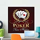 Wallmonkeys Poker Texas Logo Wall Mural Peel and Stick Graphic (24 in H x 24 in W) WM317436
