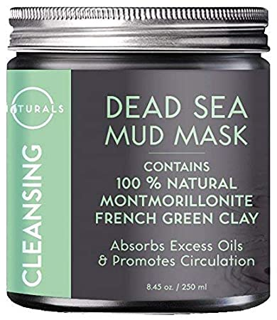 87b5e6af408 O Naturals Dead Sea Mud Mask with French Green Clay 100% Natural Vegan  Cleansing Face