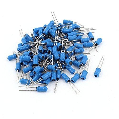 eDealMax 100Pcs 30MH 50MA 4 x 6 mm 10% la tolerancia del Plomo Radial Inductor, Azul