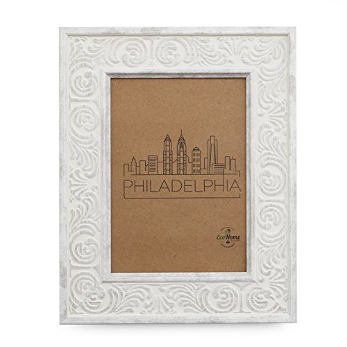 5x7 Picture Frame Distressed White - Mount Desktop Display, Frames by EcoHome