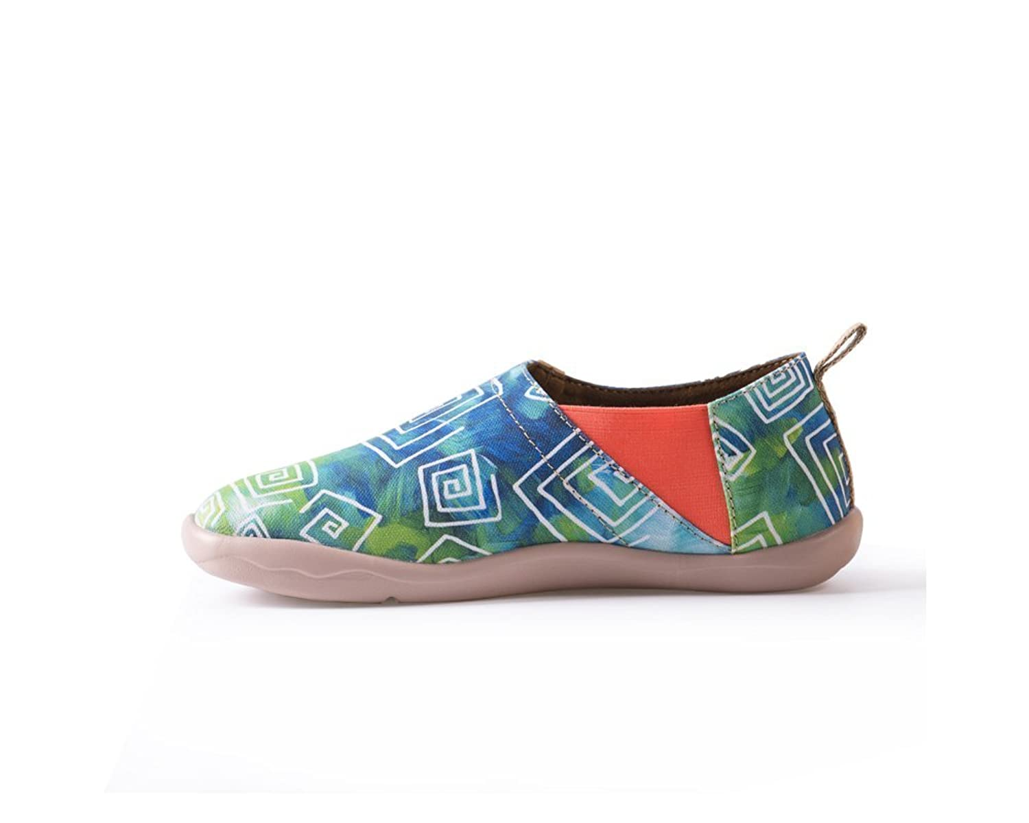 UIN Women's Love in Spring Canvas Loafer Shoe Green