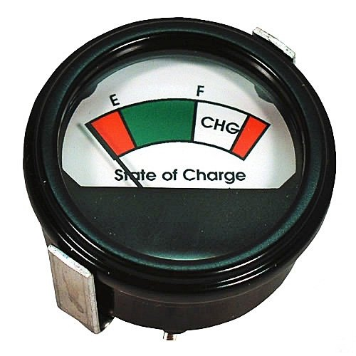 Round Analog Charge Meter: 48 Volts, For Golf Carts