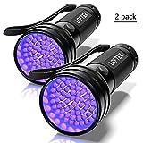 2-Pack UV Flashlight Black Light, LOFTEK 51 LEDs 390-395 nm...