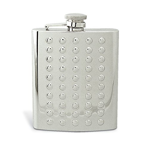 Riveted 8-Ounce Flask, 5-Inch (Riveted Metal)