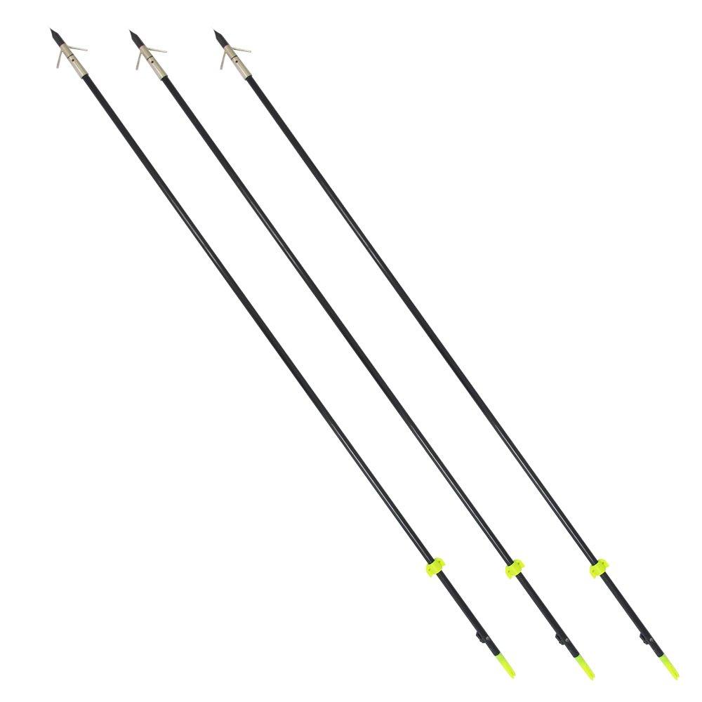 Safari Choice Three 35'' Bowfishing Arrows with Broadheads(3 Pieces)