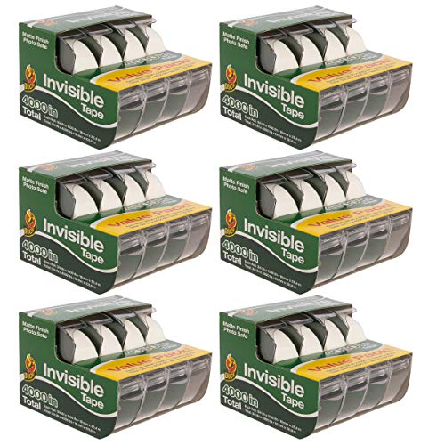 Duck Brand Tape (24 Pack) Clear Tape, Invisible Tape Rolls with Matte Finish Safe for Photo Paper Each with Tape -