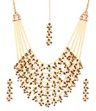 """Product review for Touchstone """"Mughal Collection Indian Bollywood Faux Pearls Ruby Emerald Meenakari Enamel Charming Grand Bridal Designer Wedding Jewelry Necklace Set for Women."""
