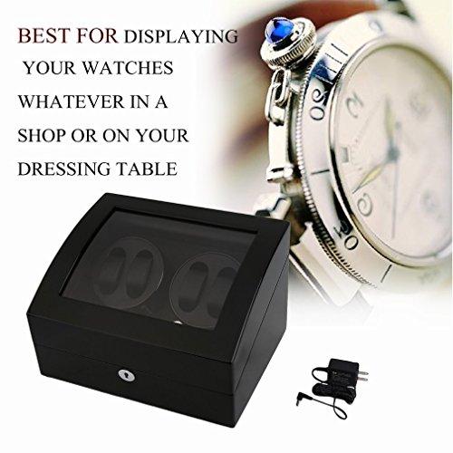 Water-chestnut Watch Winder,Automatic watchbox 10 Watch Winder Case Display Box (ALL BLACK 4+6) by Water-chestnut (Image #6)
