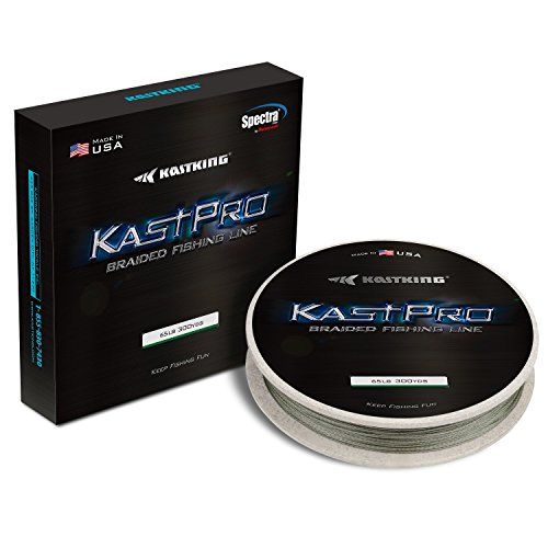 KastKing KastPro Thin Diameter Zero Stretch Braid Braided Fishing Line, Combat ()