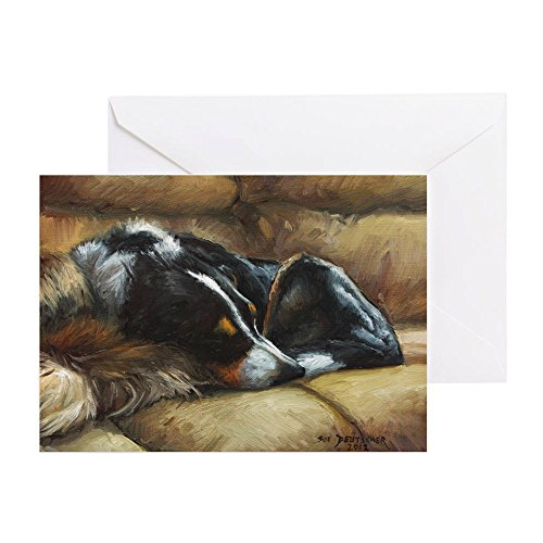 CafePress Border Collie On Couch Greeting Card, Note Card, Birthday Card, Blank Inside Glossy