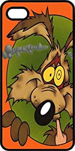 Wile E. Coyote Smoking Ears Black Rubber Case for Apple iPhone 5 or iPhone 5s