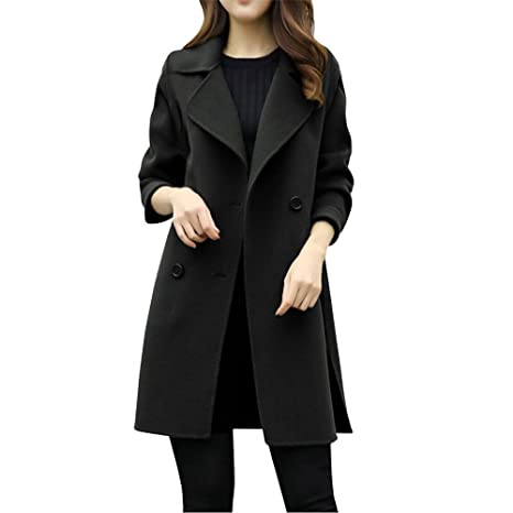Amazon.com: VESNIBA Womens Autumn Winter Jacket Casual Outwear Parka Cardigan Slim Coat Overcoat: Clothing