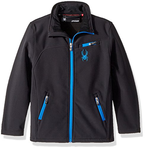 Spyder Big Boys' Softshell Jacket, Stratos Blue, M Spyder Boys Jacket