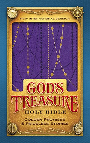 NIV, God's Treasure Holy Bible, Leathersoft, Amethyst: Golden promises and priceless stories